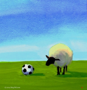 Meg+McLean+soccer+ball+sheep