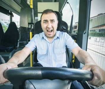 stressed busdriver